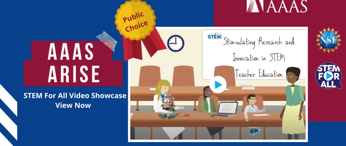 ARISE STEM for All Video Wins Public Choice Award